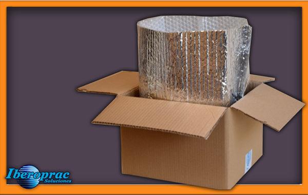 Cobertura isotérmica dentro da caixa